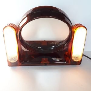 Vtg GE The Looking Glass 2 Sided Light Up Mirror